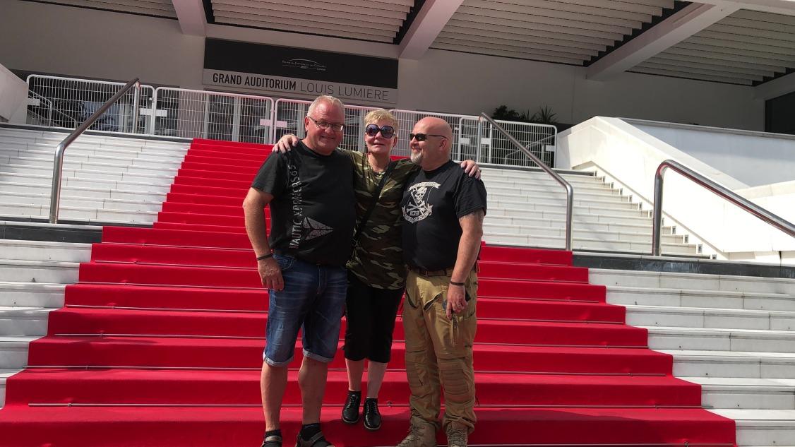 På rød løper i Cannes